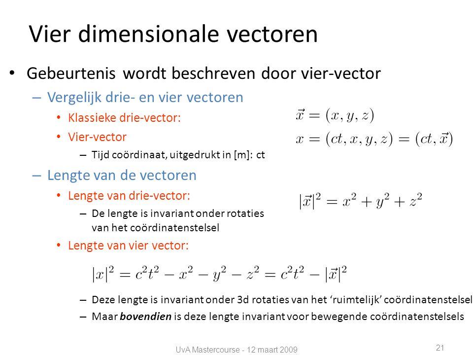 Vier dimensionale vectoren