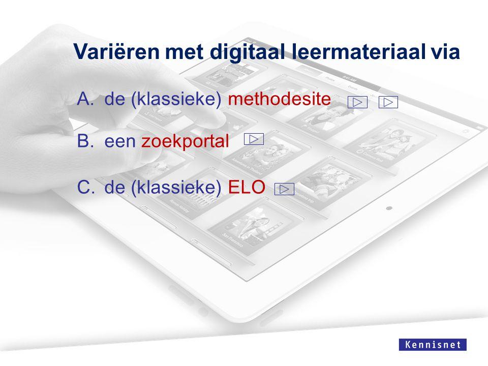 Variëren met digitaal leermateriaal via