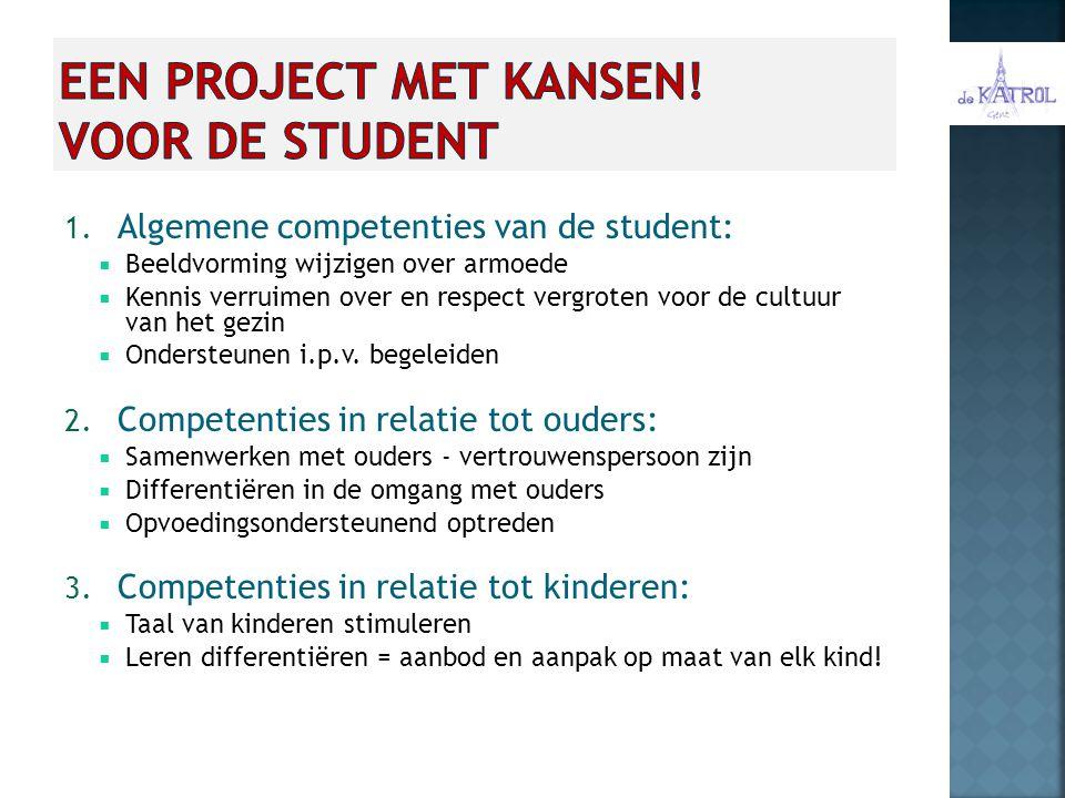 Een project met kansen! voor de student