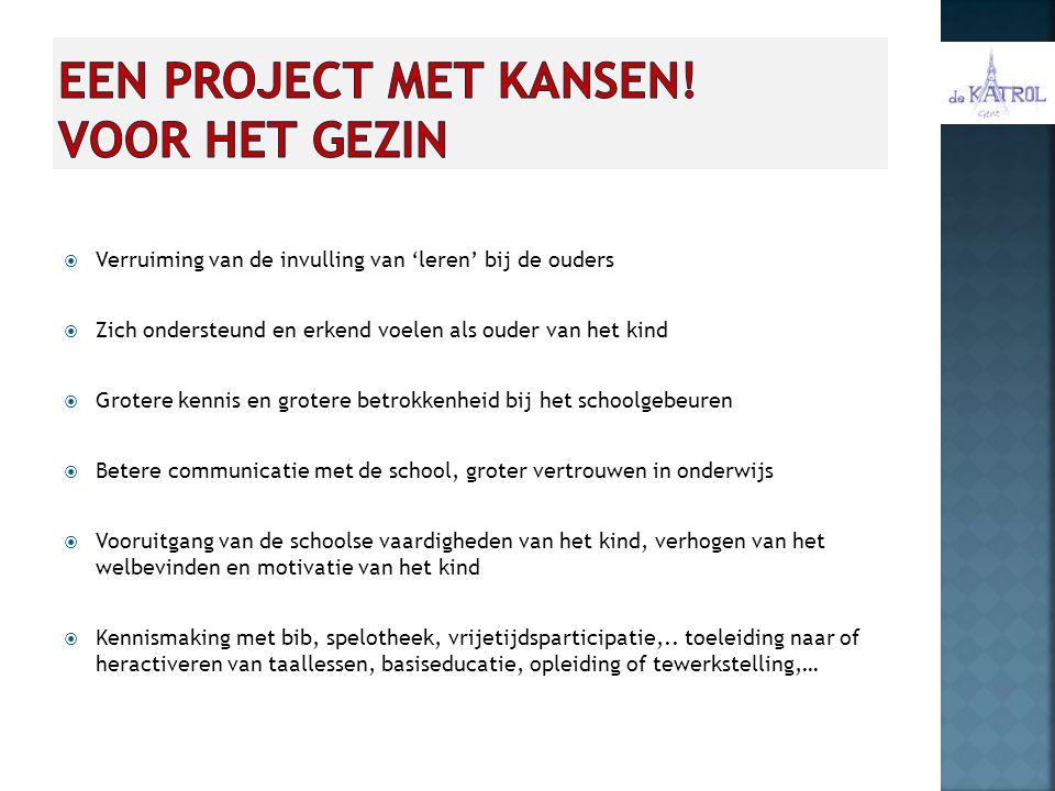Een project met kansen! voor het gezin