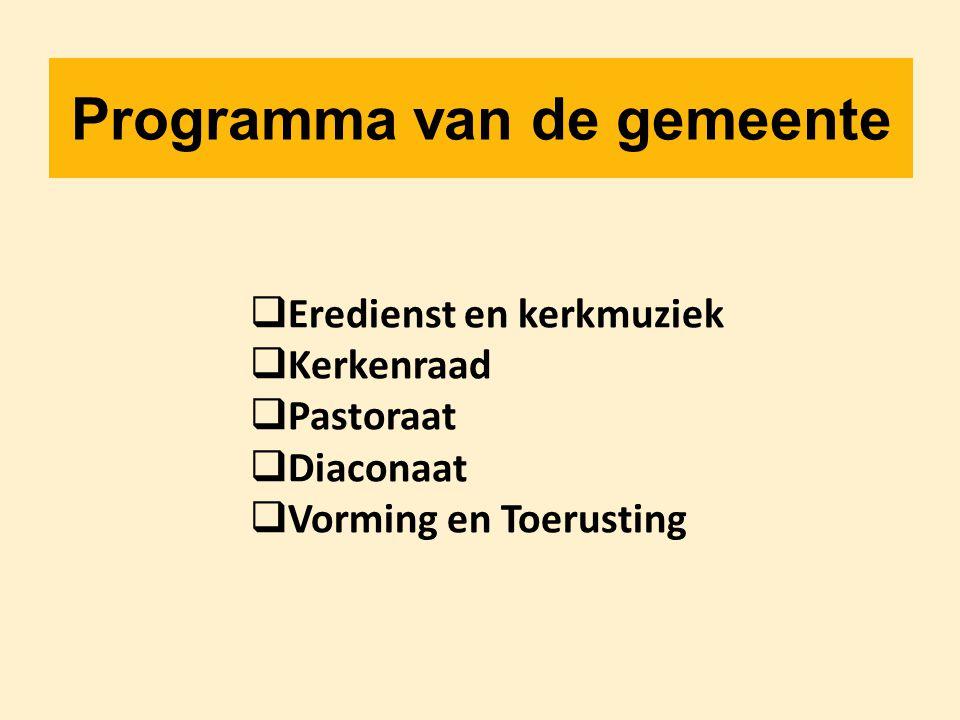 Programma van de gemeente