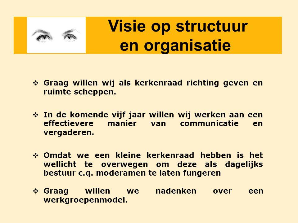 Visie op structuur en organisatie