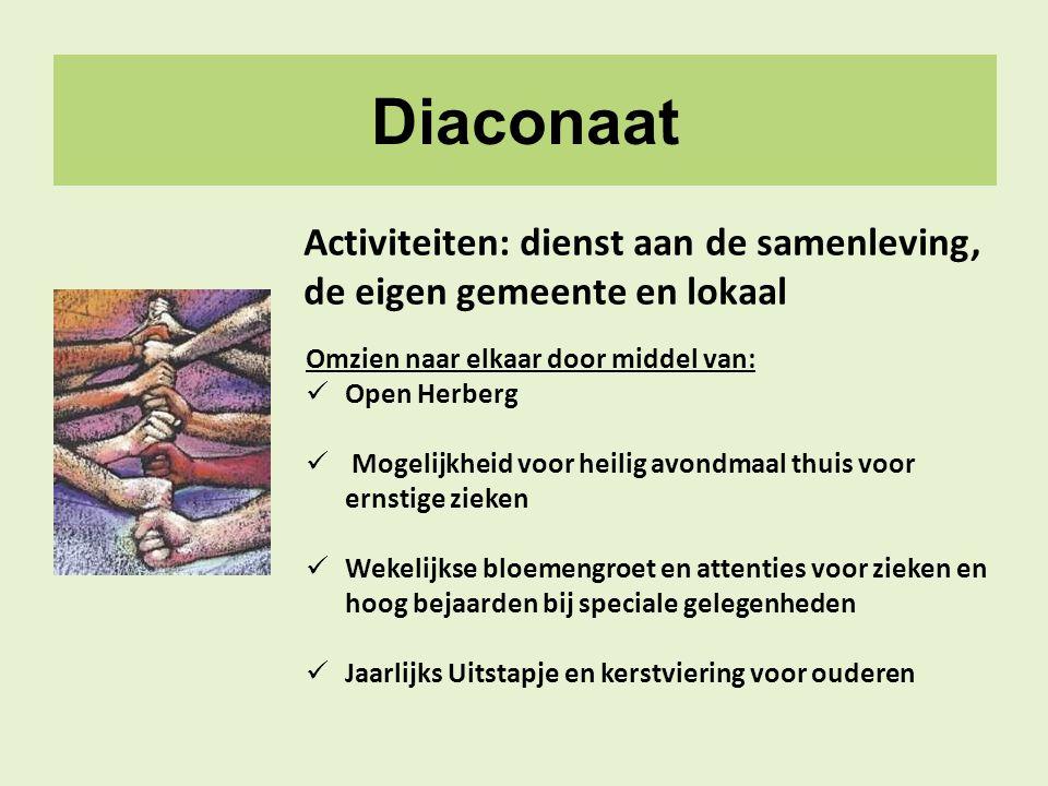 Diaconaat Activiteiten: dienst aan de samenleving,