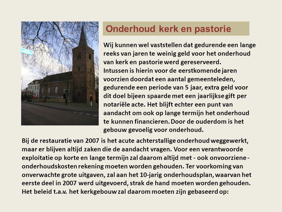 Onderhoud kerk en pastorie