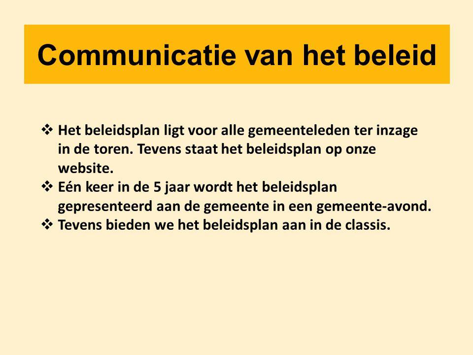 Communicatie van het beleid