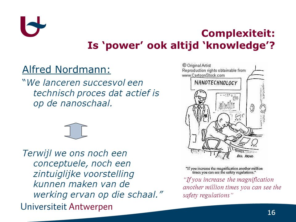 Is 'power' ook altijd 'knowledge'
