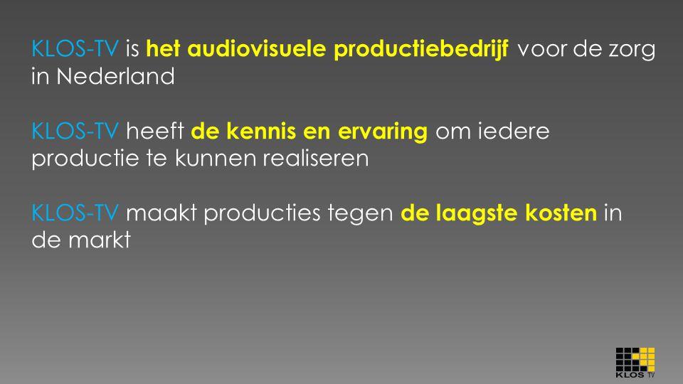 KLOS-TV is het audiovisuele productiebedrijf voor de zorg in Nederland
