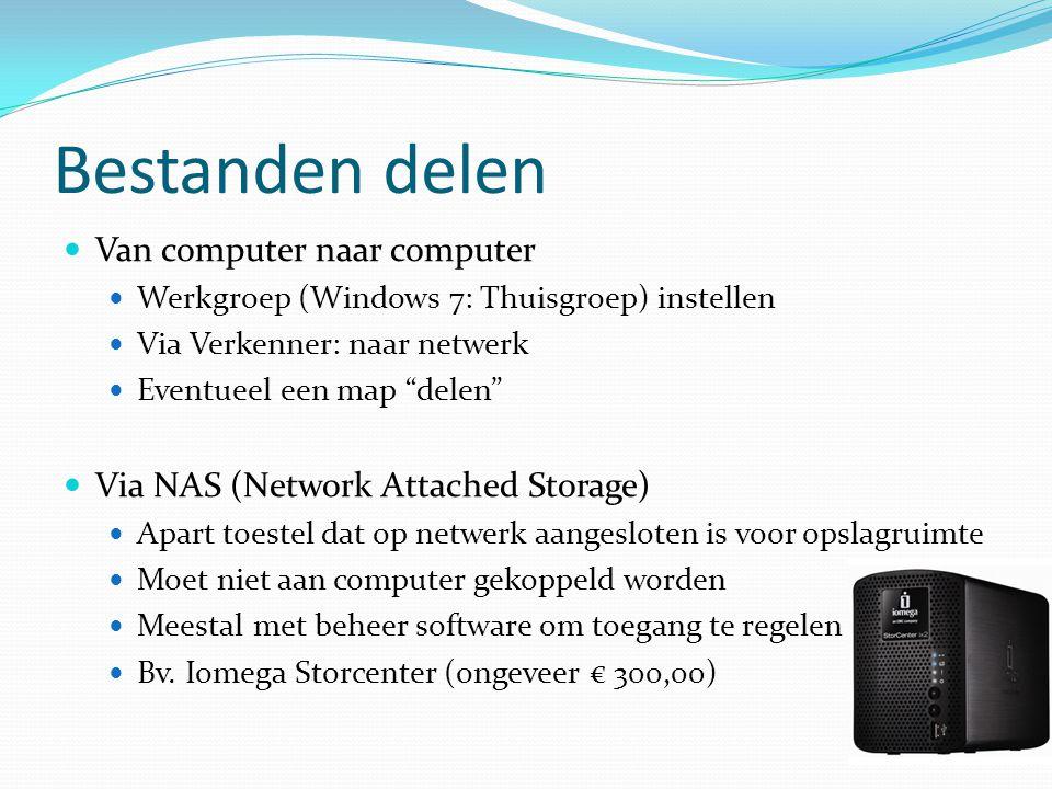 Bestanden delen Van computer naar computer