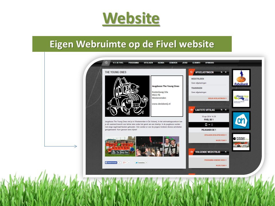 Eigen Webruimte op de Fivel website