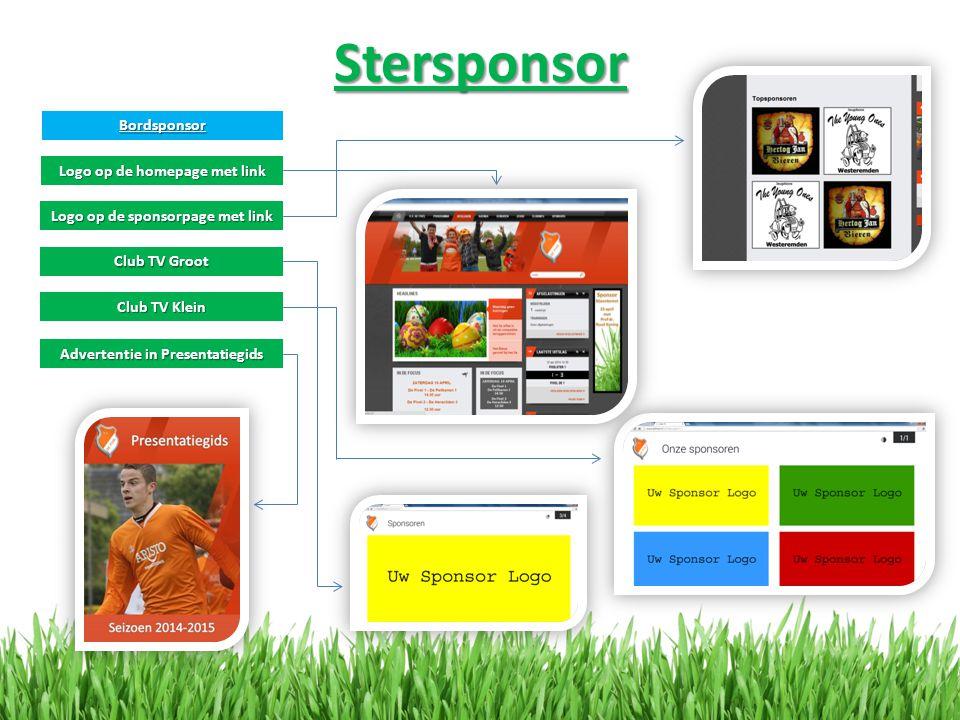 Stersponsor Bordsponsor Logo op de homepage met link