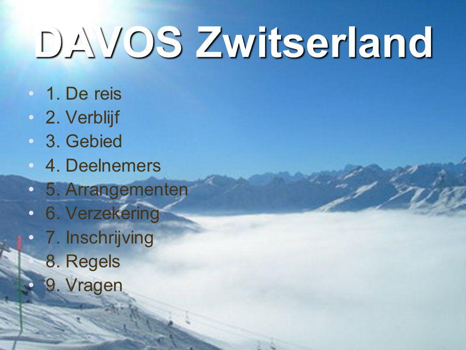 DAVOS Zwitserland 1. De reis 2. Verblijf 3. Gebied 4. Deelnemers