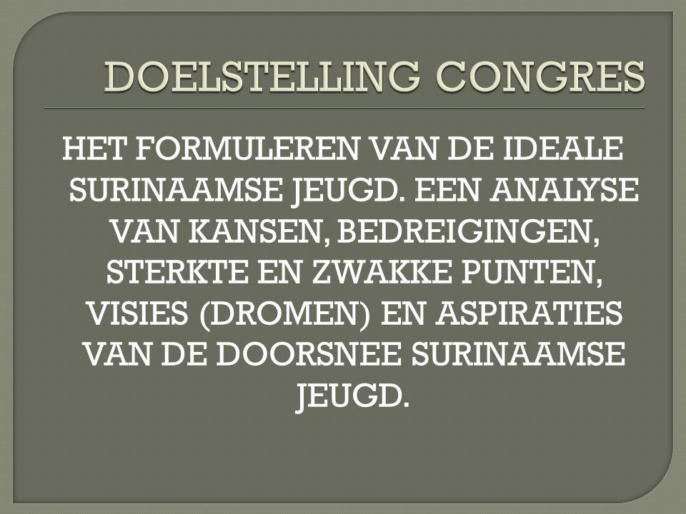 DOELSTELLING CONGRES