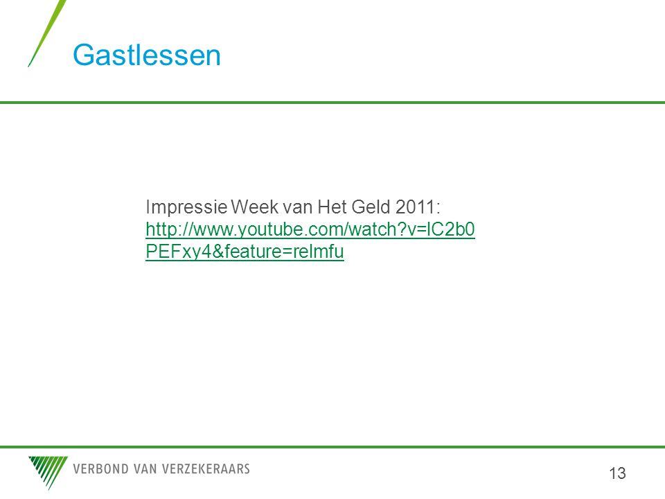 Gastlessen Impressie Week van Het Geld 2011: