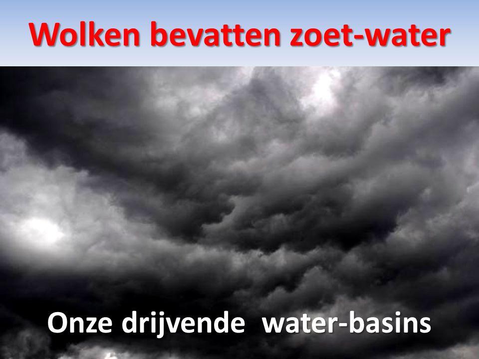Wolken bevatten zoet-water