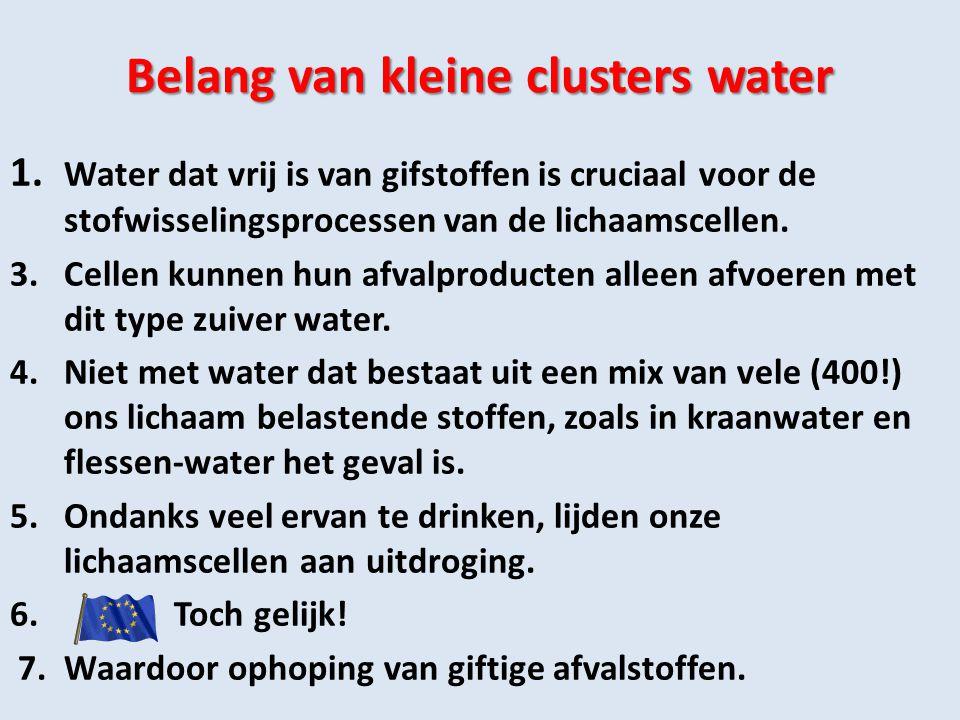 Belang van kleine clusters water