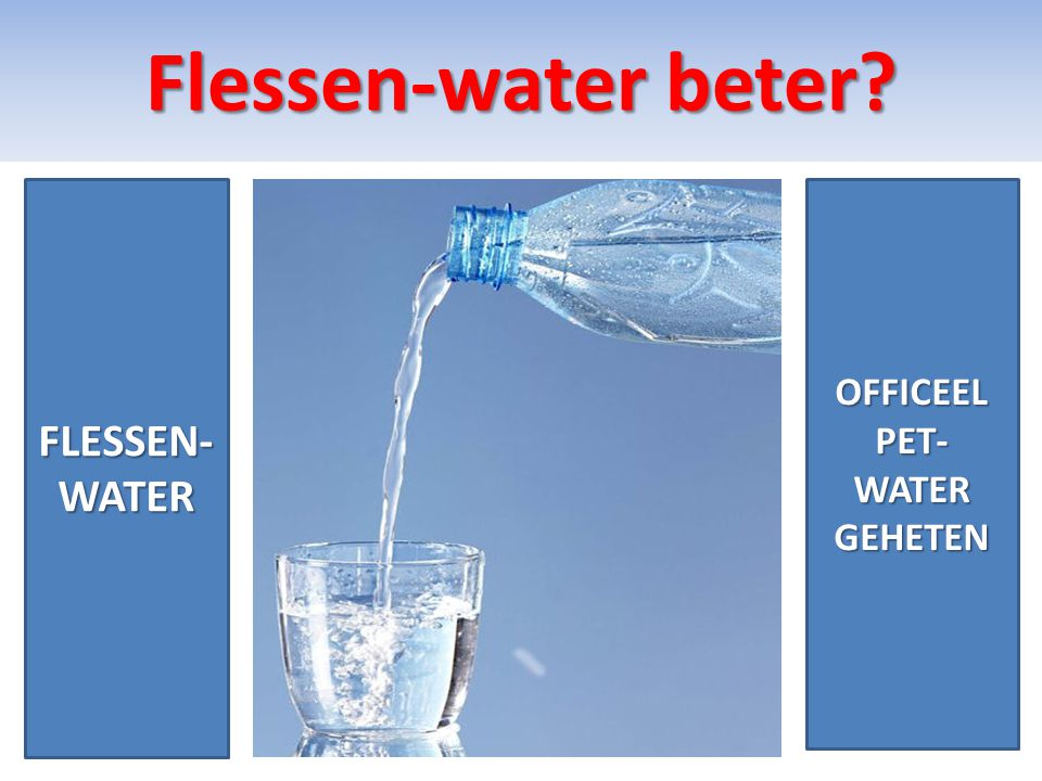 Flessen-water beter FLESSEN-WATER OFFICEEL PET-WATER GEHETEN