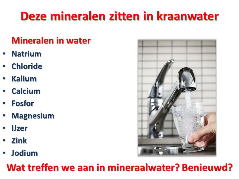 Deze mineralen zitten in kraanwater