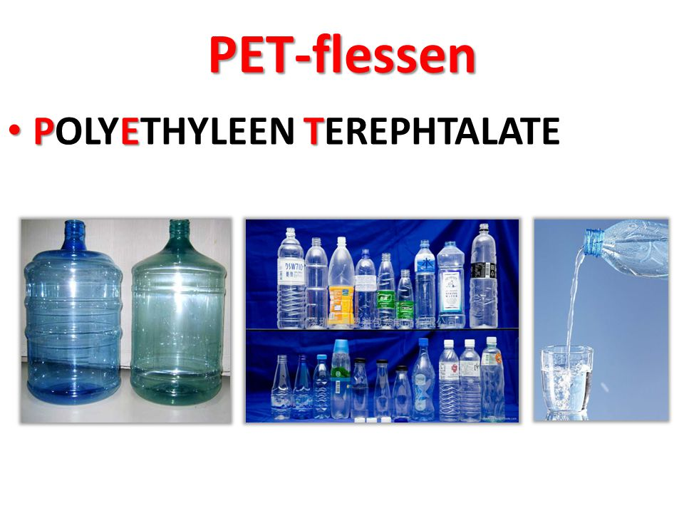 PET-flessen POLYETHYLEEN TEREPHTALATE