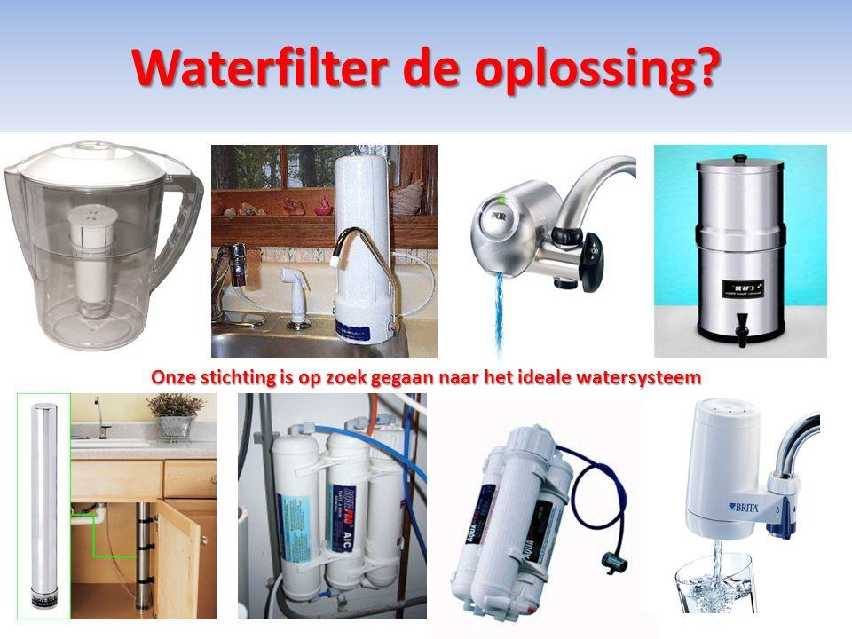 Waterfilter de oplossing