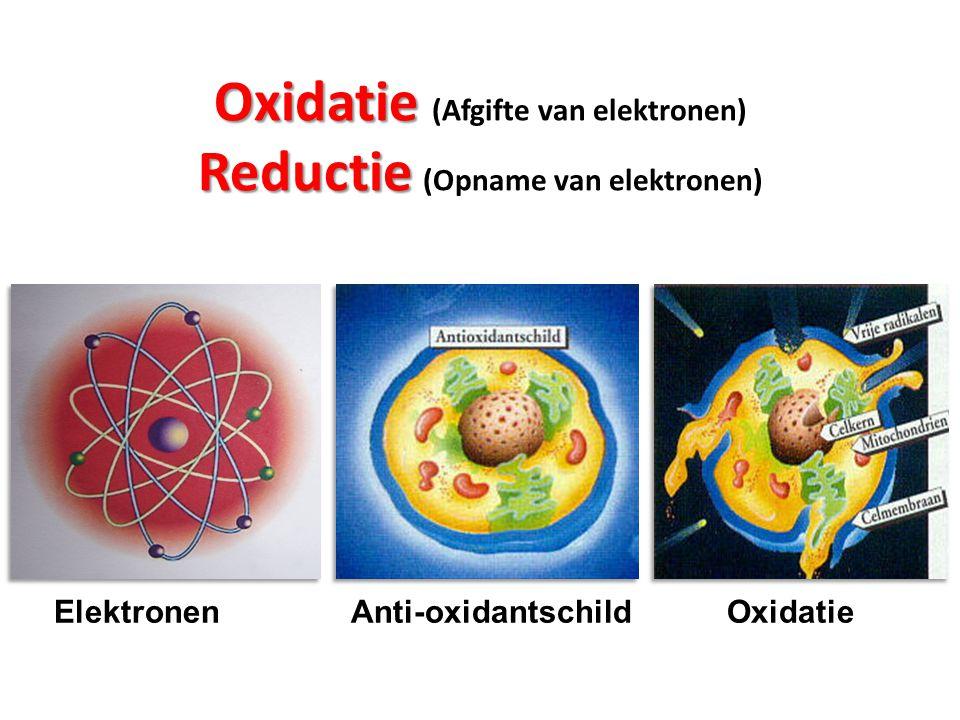 Oxidatie (Afgifte van elektronen) Reductie (Opname van elektronen)