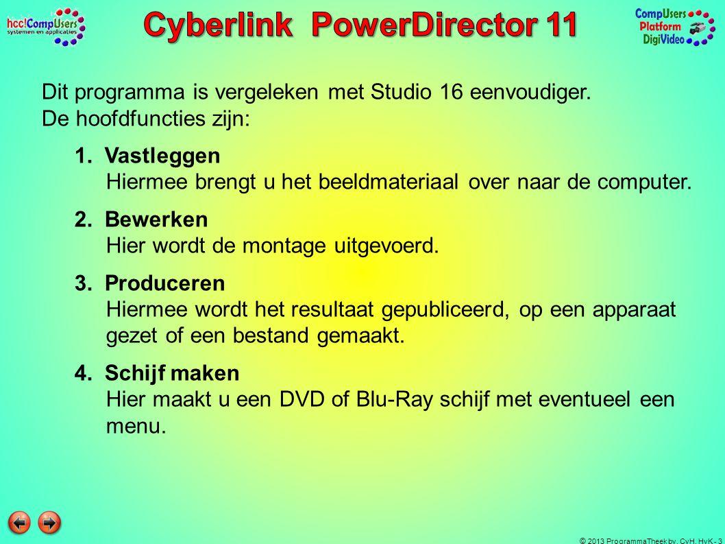 Dit programma is vergeleken met Studio 16 eenvoudiger