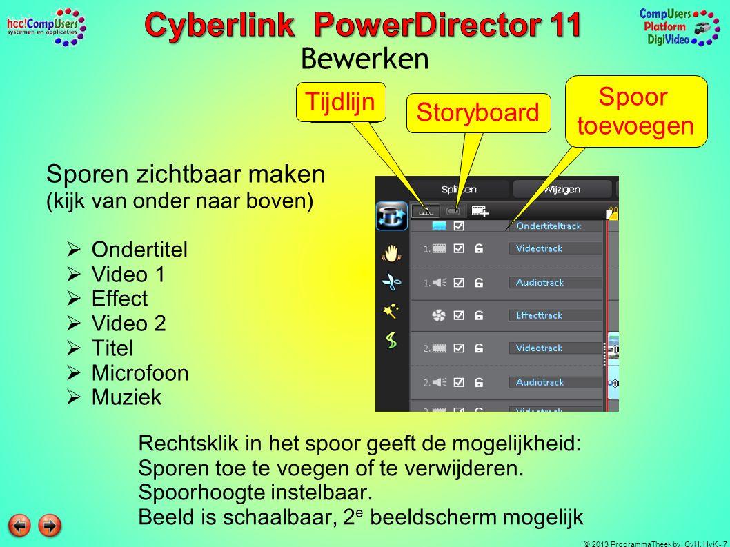 Bewerken Spoor toevoegen Tijdlijn Storyboard