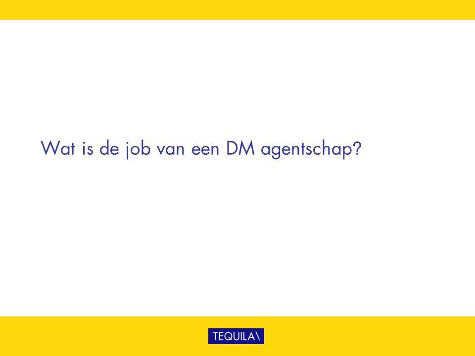 Wat is de job van een DM agentschap