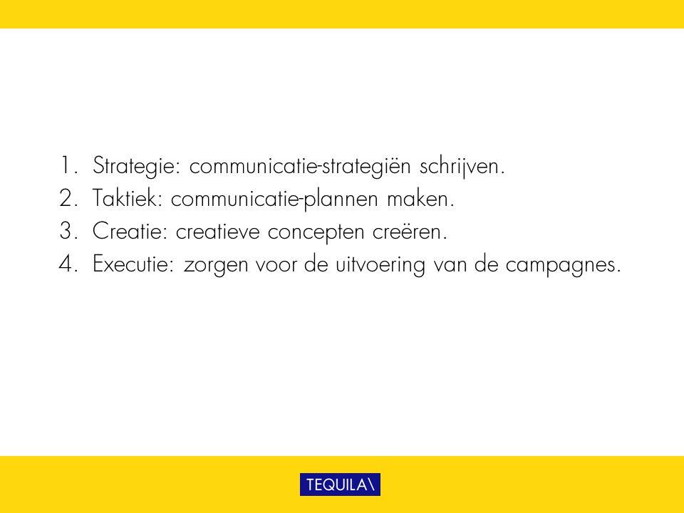 Strategie: communicatie-strategiën schrijven.