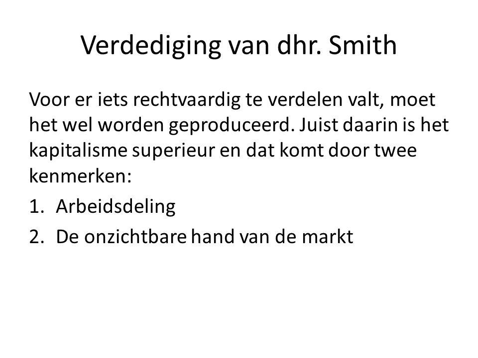 Verdediging van dhr. Smith