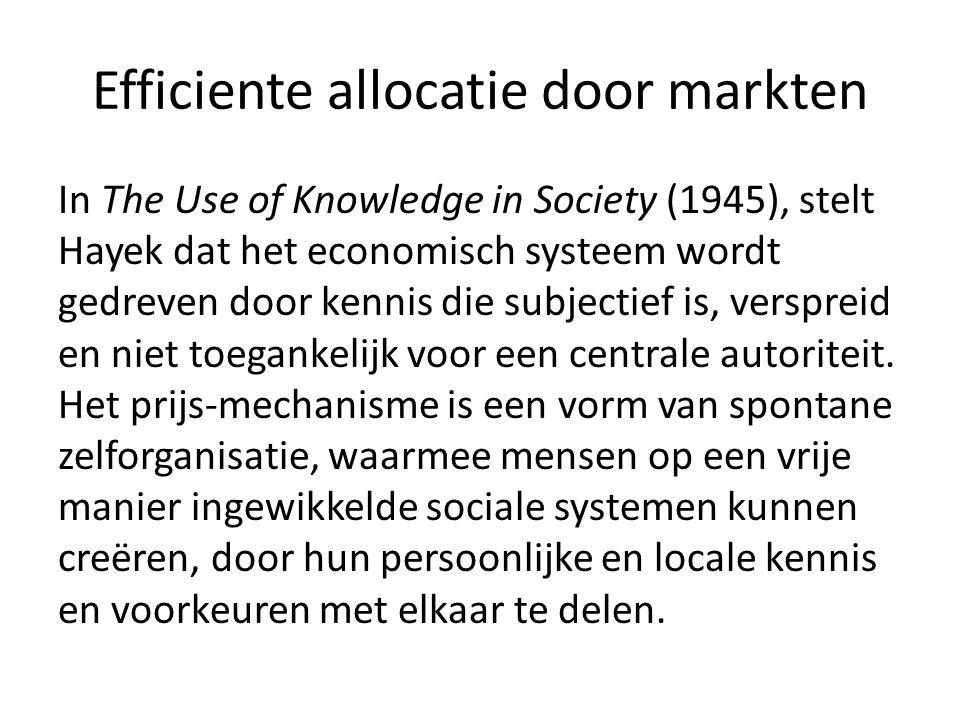 Efficiente allocatie door markten