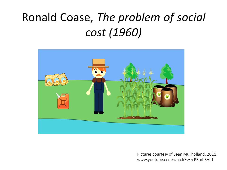 Ronald Coase, The problem of social cost (1960)