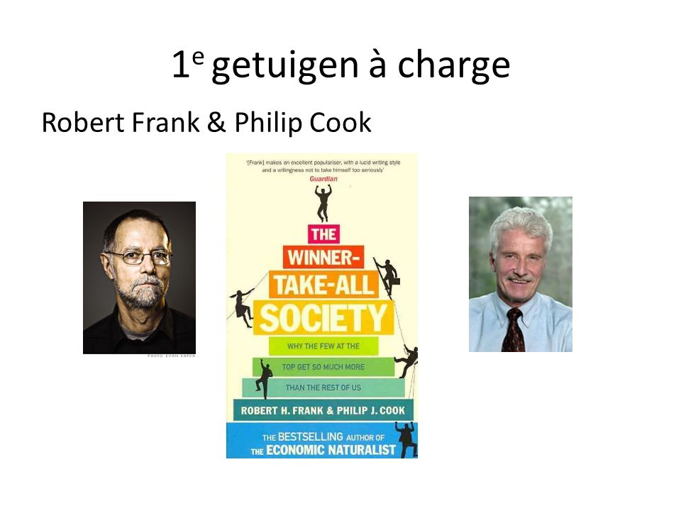 1e getuigen à charge Robert Frank & Philip Cook
