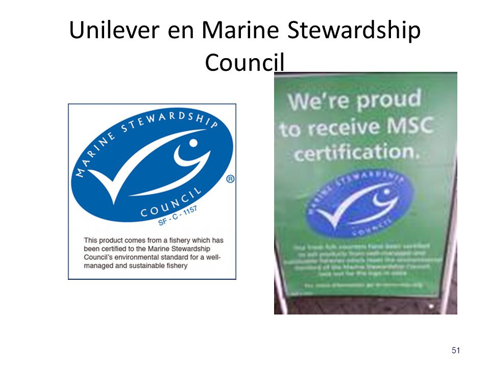 Unilever en Marine Stewardship Council