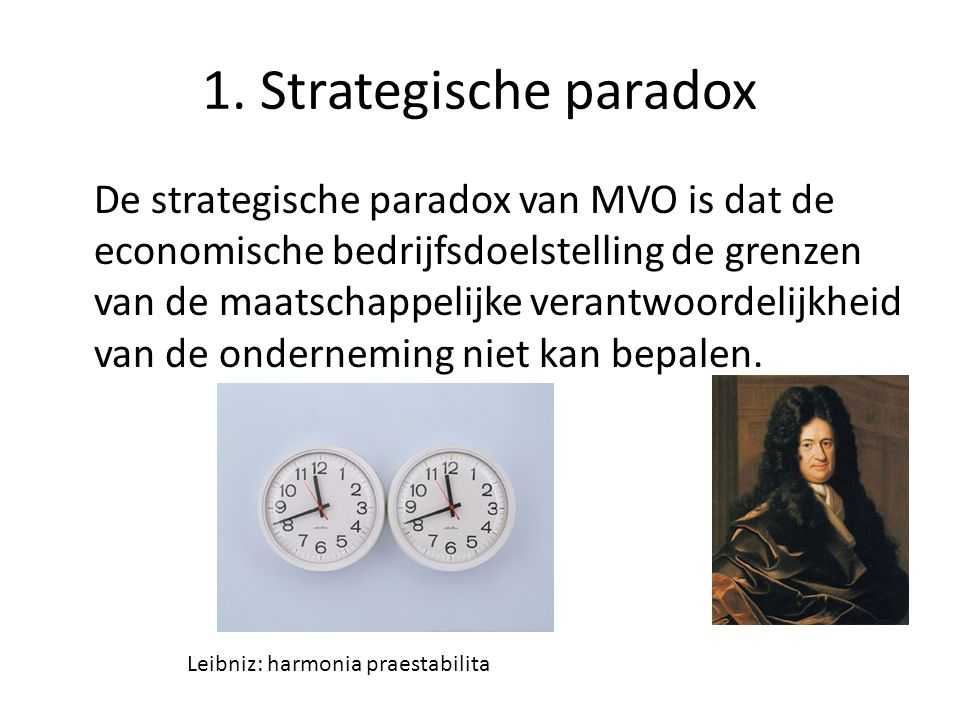 1. Strategische paradox