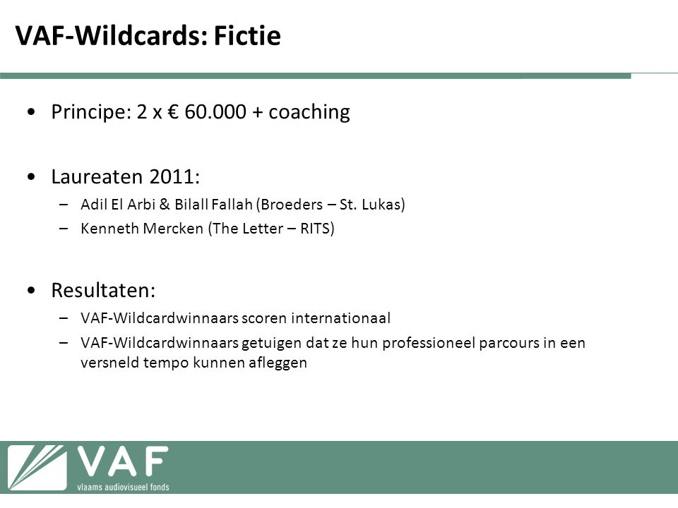 VAF-Wildcards: Fictie