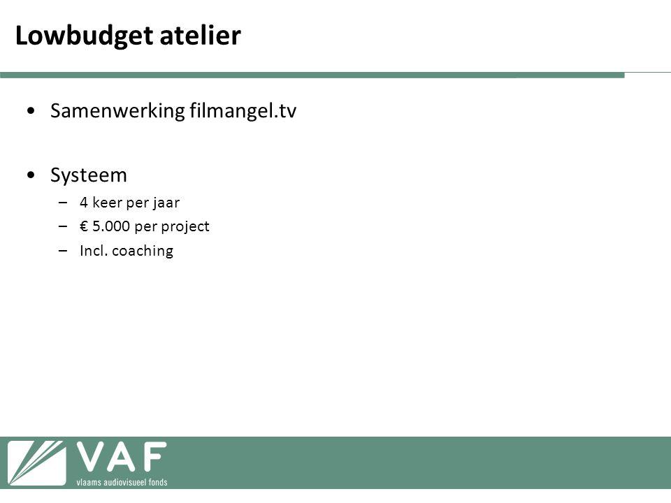 Lowbudget atelier Samenwerking filmangel.tv Systeem 4 keer per jaar