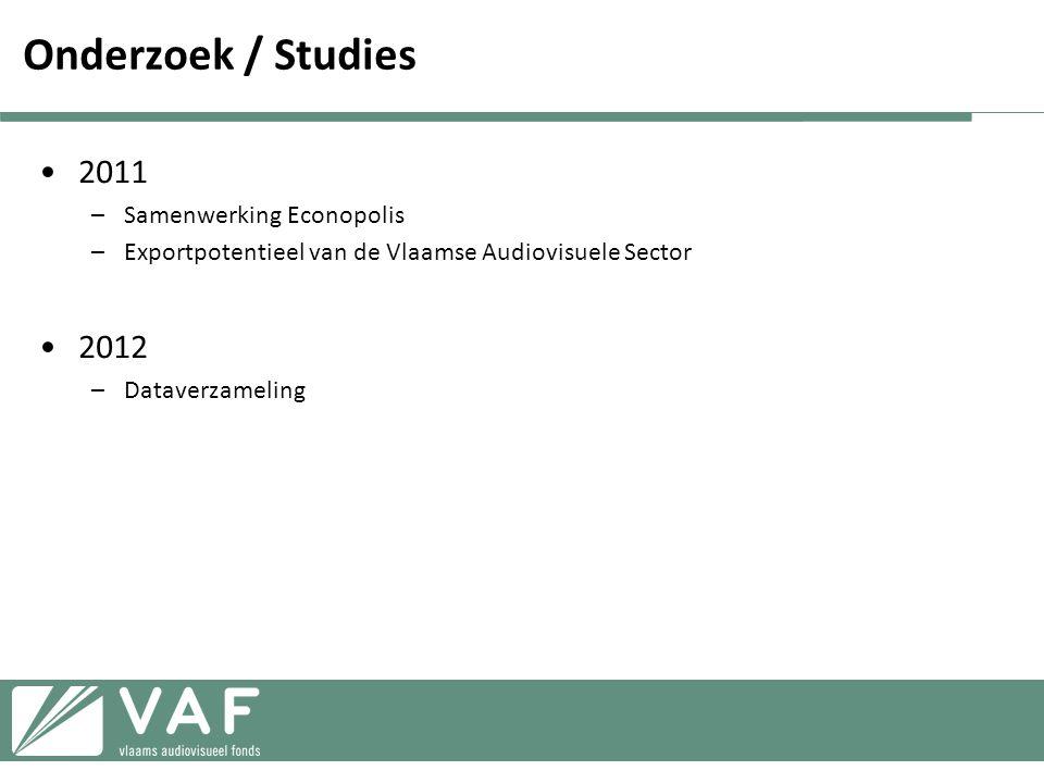 Onderzoek / Studies 2011 2012 Samenwerking Econopolis