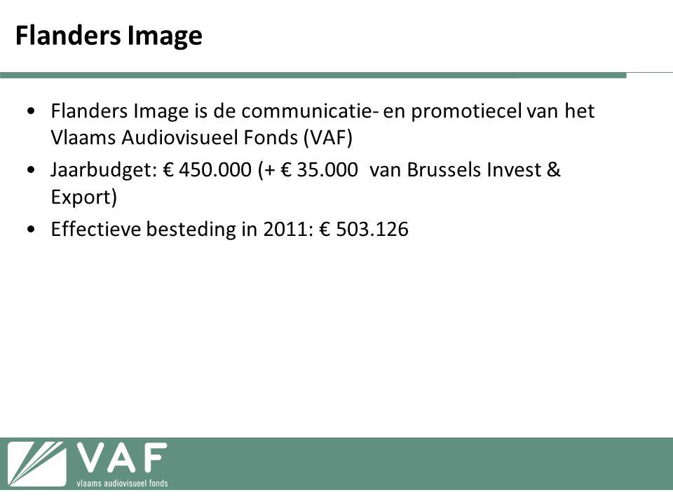 Flanders Image Flanders Image is de communicatie- en promotiecel van het Vlaams Audiovisueel Fonds (VAF)