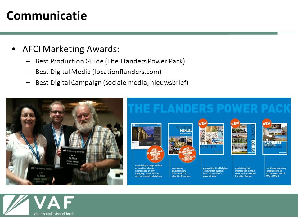 Communicatie AFCI Marketing Awards: