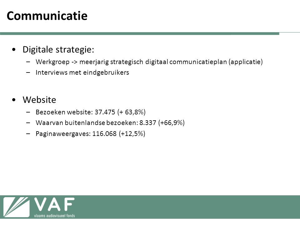 Communicatie Digitale strategie: Website