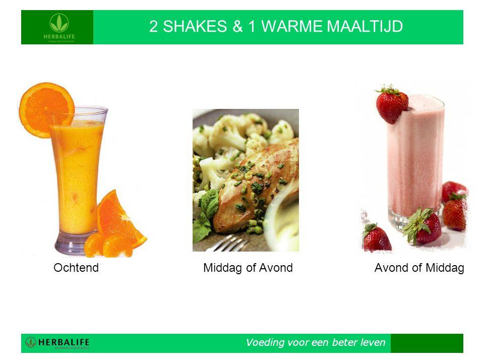 2 SHAKES & 1 WARME MAALTIJD