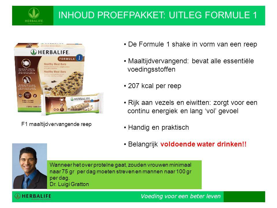 INHOUD PROEFPAKKET: UITLEG FORMULE 1