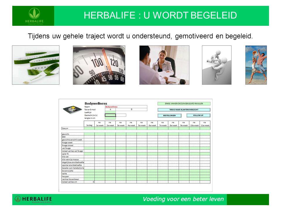 HERBALIFE : U WORDT BEGELEID