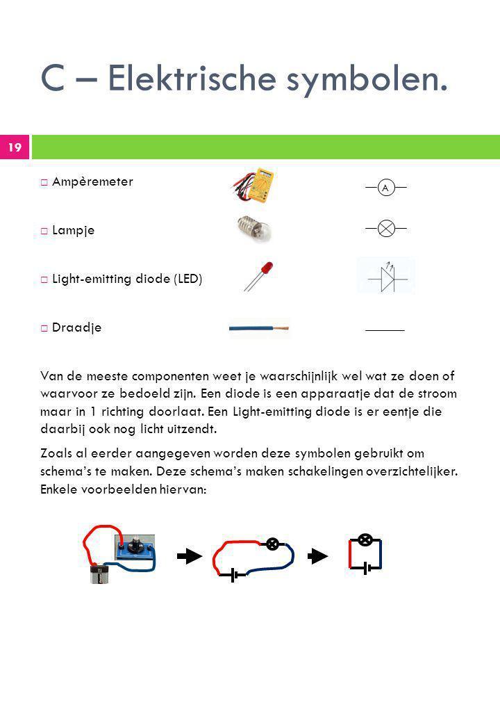 C – Elektrische symbolen.