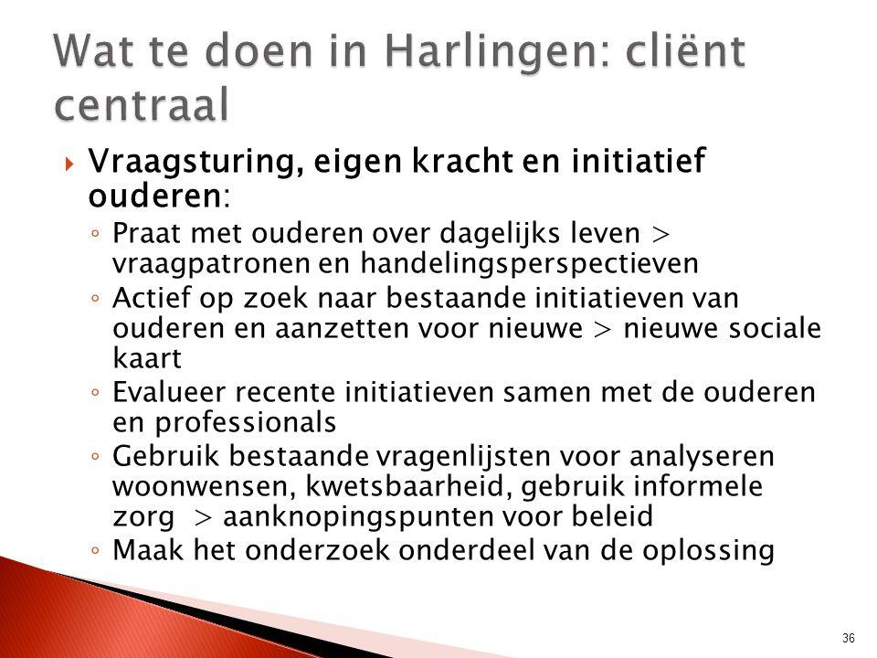 Wat te doen in Harlingen: cliënt centraal