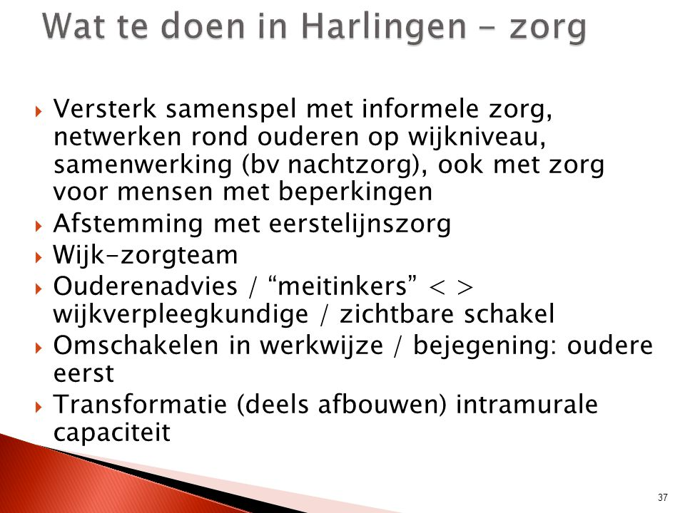 Wat te doen in Harlingen - zorg