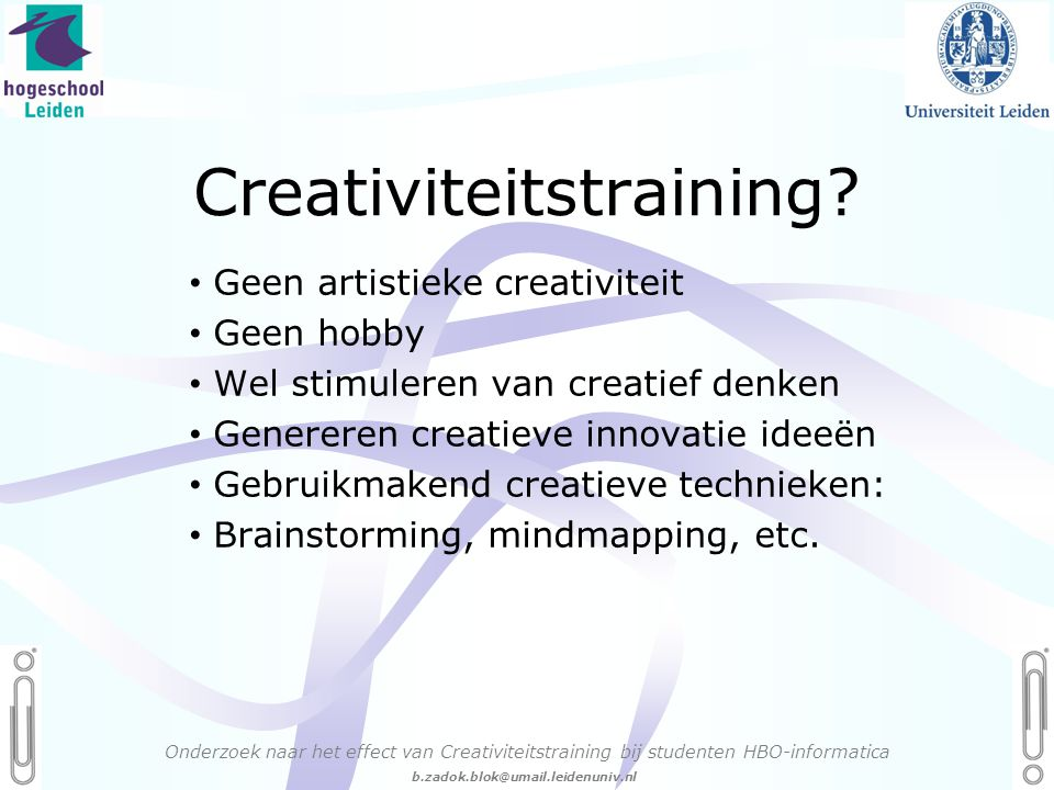 Creativiteitstraining