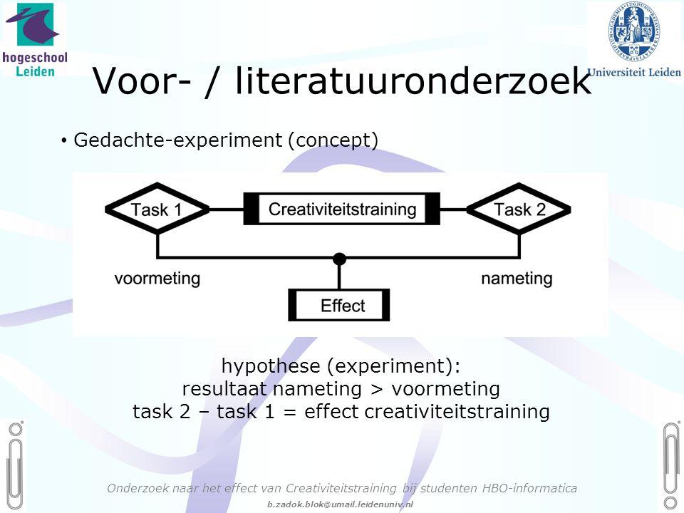Voor- / literatuuronderzoek