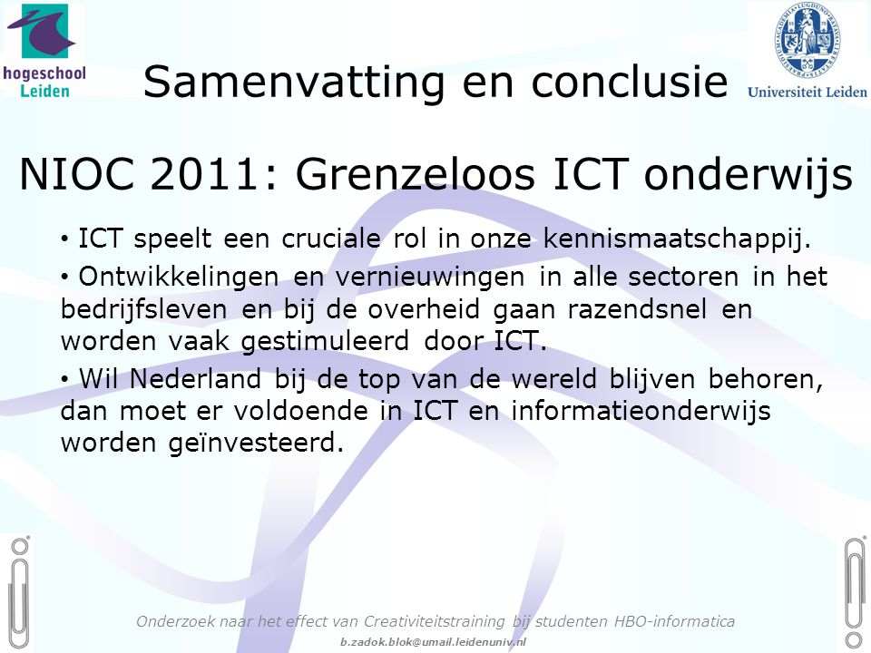 NIOC 2011: Grenzeloos ICT onderwijs