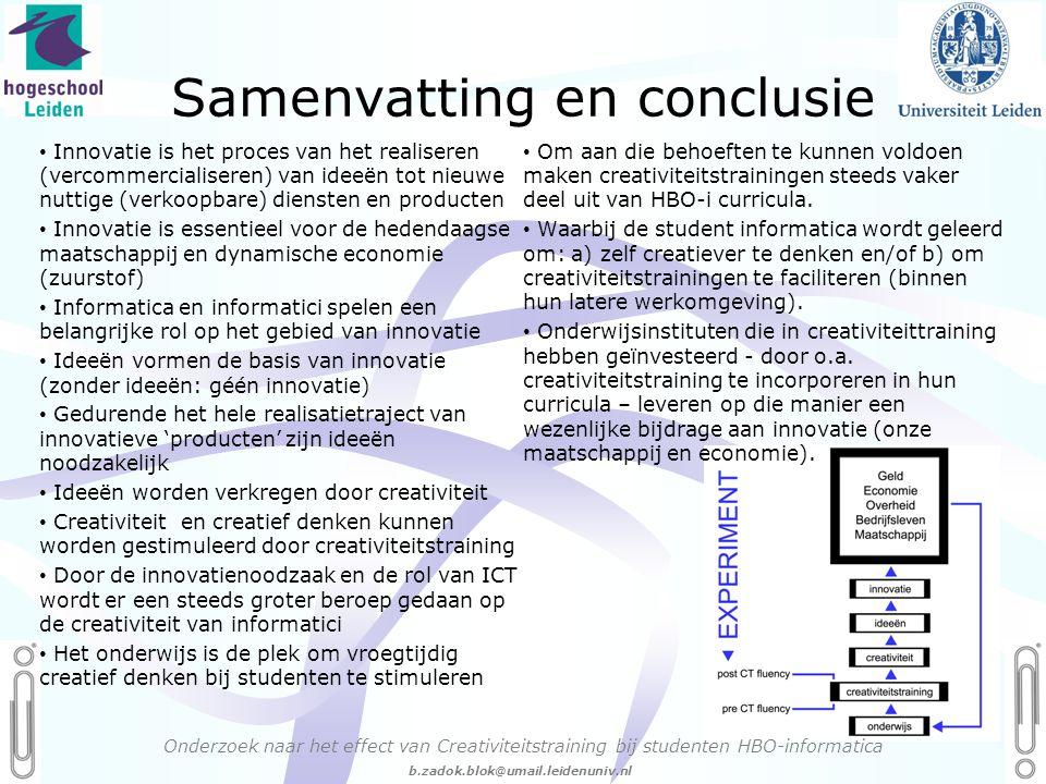 Samenvatting en conclusie